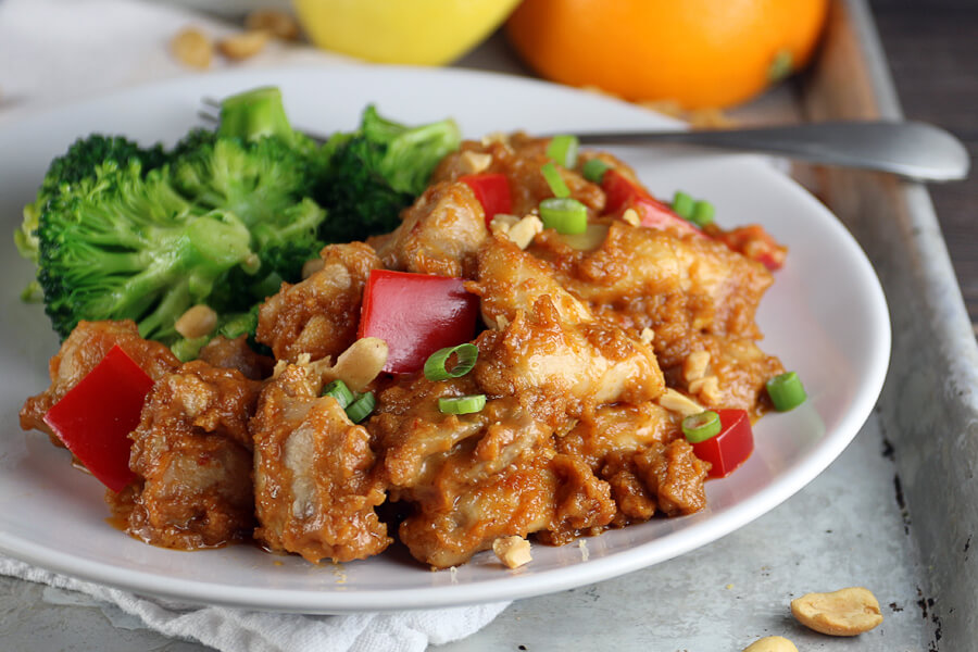 Thai Style Low Carb Peanut Chicken | Ruled Me
