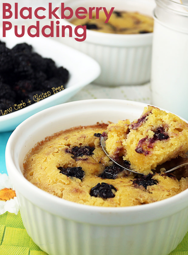 Low Carb Blackberry Pudding | Shared via www.ruled.me/