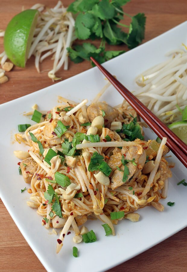 Enjoy the flavors of Chicken Pad Thai, while staying #keto! Shared via www.ruled.me/