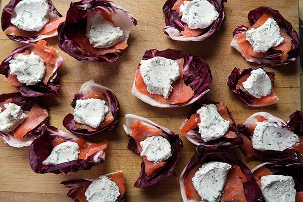 Smoked Salmon and Goat Cheese Bites